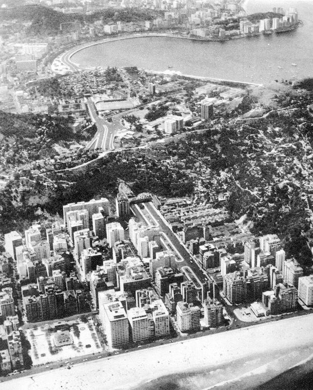 Vista aérea da Avenida Princesa Isabel em Copacabana