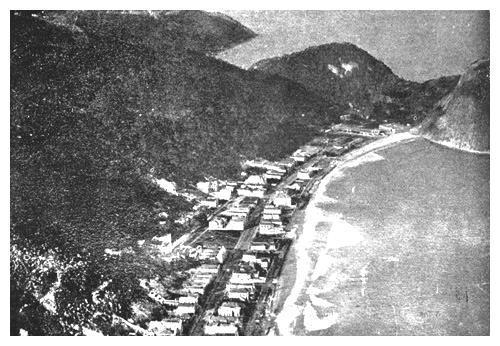 Vista espetacular da praia do Leme em 1919