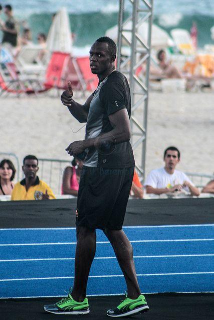 Jamaicano Usain Bolt em Copacabana