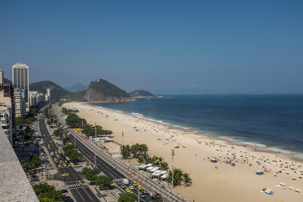 Praia de Copacabana na Primavera