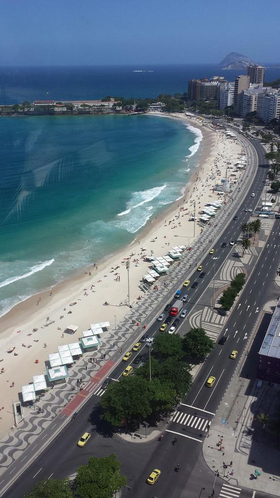 Praia de Copacabana vista da janela do Othon