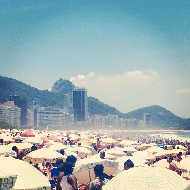 Praia de Copacabana no dia da Consciência Negra