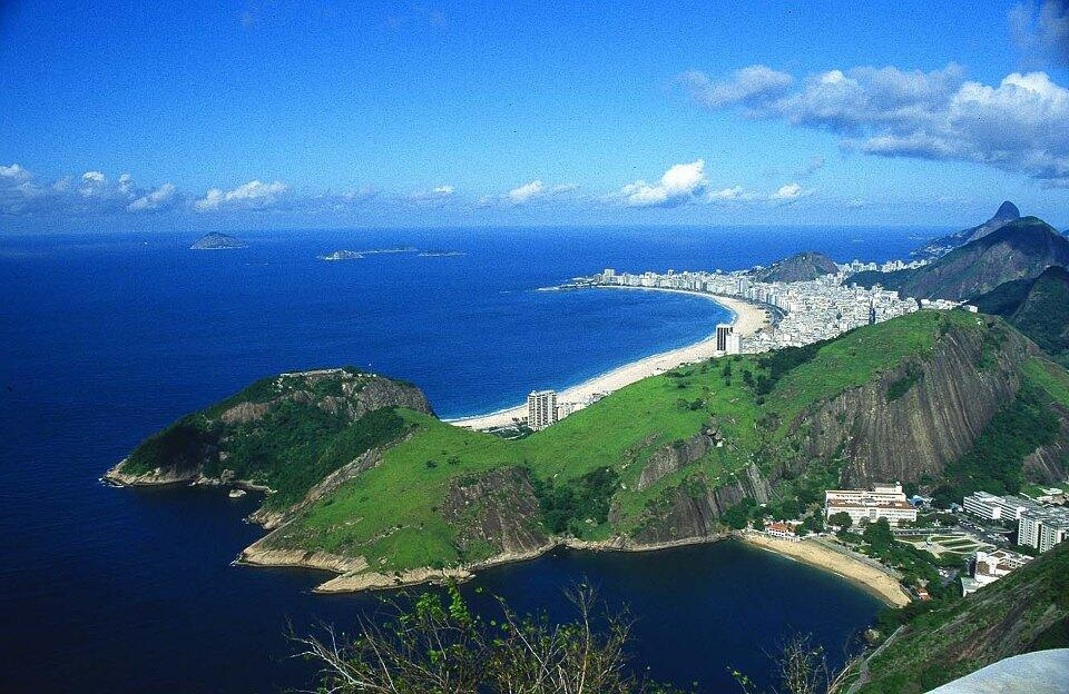 Praia de Copacabana vista do Pão de Açúcar