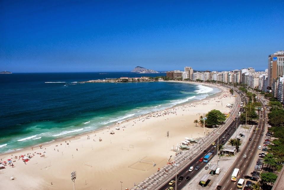 Praia de #Copacabana em 07/12/2013