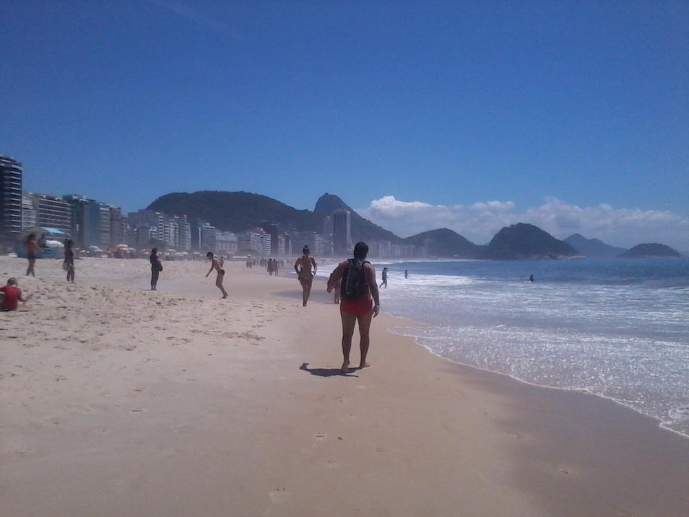 Praia de Copacabana em 09/12/2013