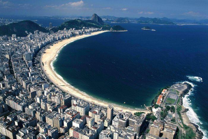 Panorâmica da Praia de #Copacabana