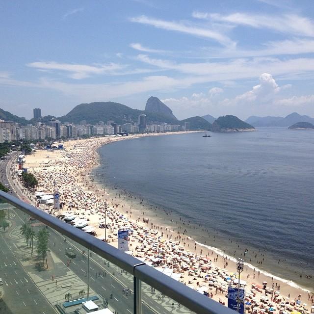 Praia de Copacabana foto tirada do Hotel Windsor Miramar