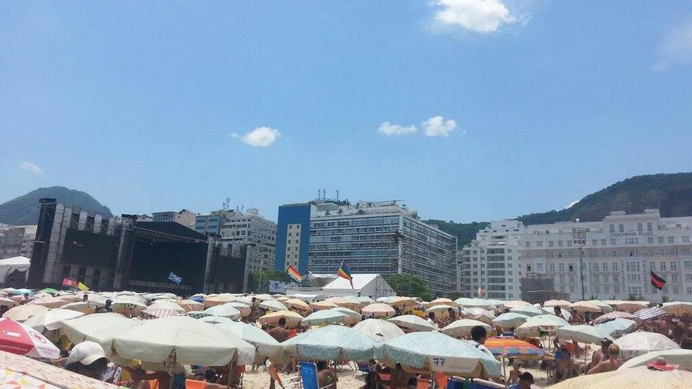 Palco do Reveillon 2014 em Copacabana