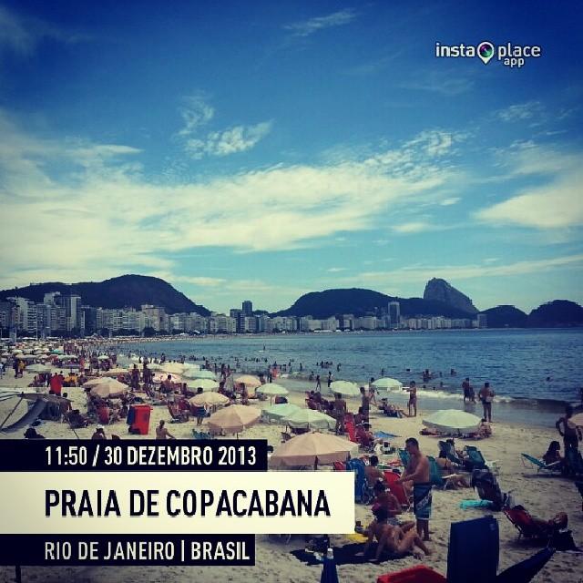 Praia de Copacabana em 30 de dezembro de 2013