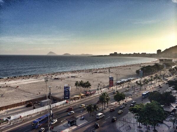 Praia de Copacabana em janeiro 2014