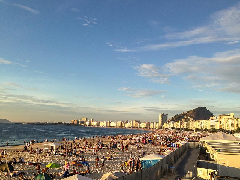Praia de Copacabana 1º de janeiro 2014