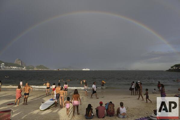 Arco-iris na Praia de Copacabana