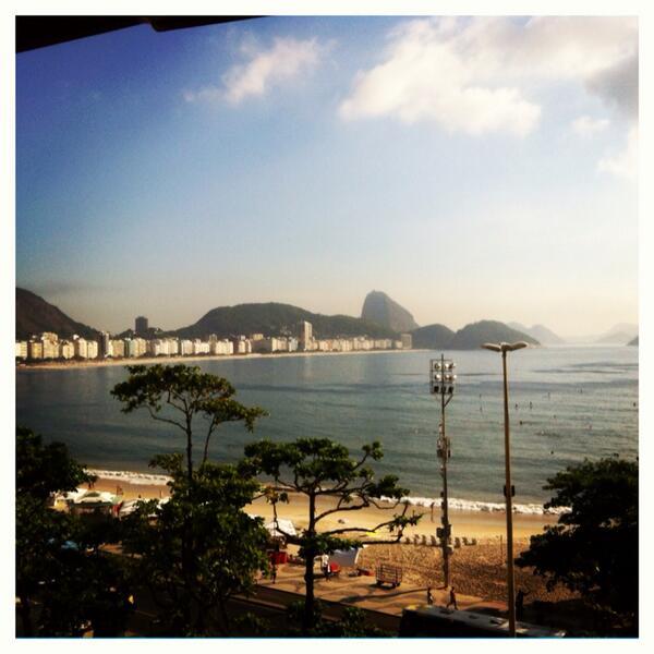 Foto da Praia de Copacabana, verão 2014