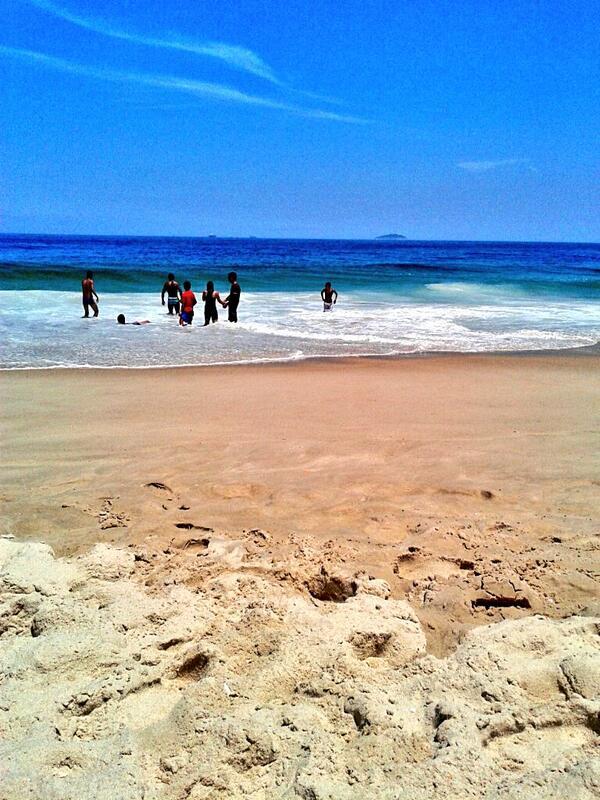 Praia de Copacabana, janeiro 2014