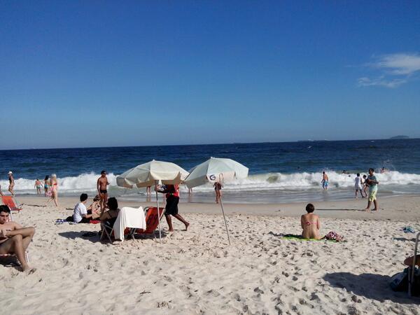 Praia de Copacabana, no verão 40ºC, 2014
