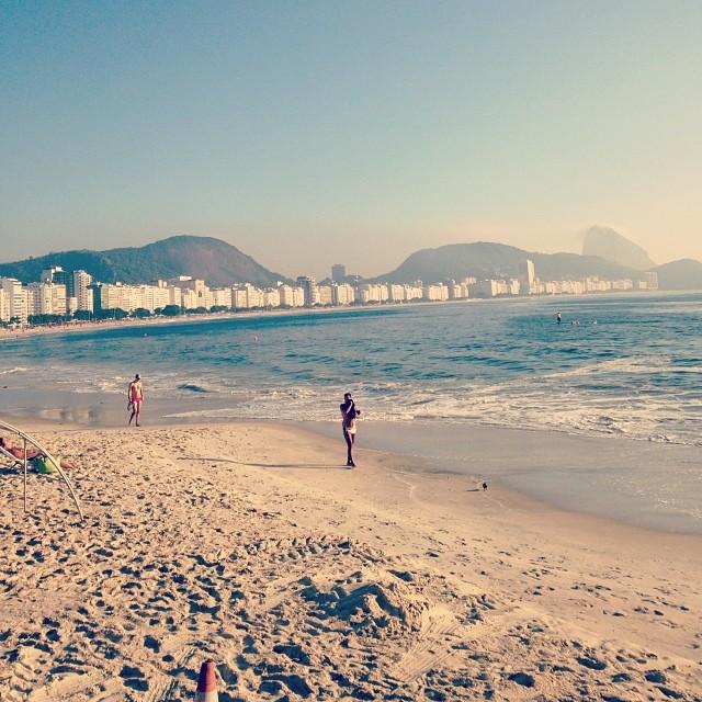 Manhã de sol em Copacabana