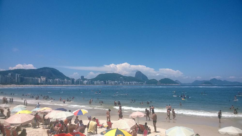 Posto 6 em Copacabana no verão 2014