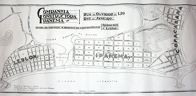 Planta do Loteamento de Leblon e Ipanema