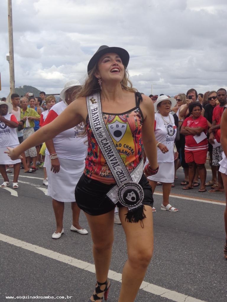 Rainha da Bateria da Alegria da Zona Sul em desfile em Copacabana