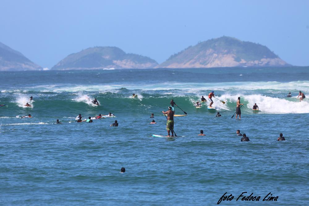 Esportes aquaticos em Copacabana