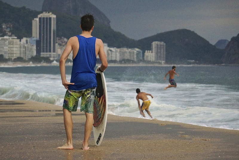 Skimming em Copacabana