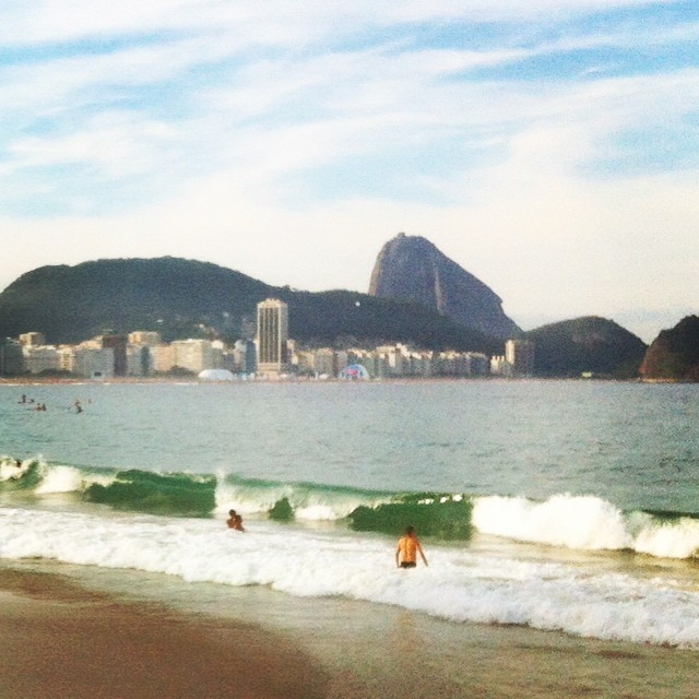 Praia de Copacabana durante a Copa 2014