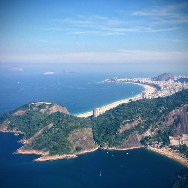 Praia de Copacabana vista do Pão de Açucar