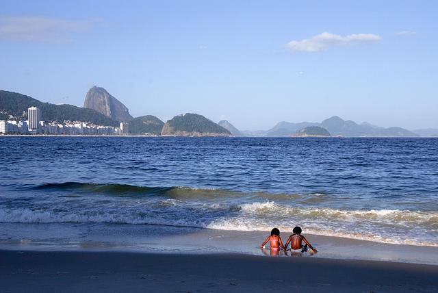 Dia de sol na Praia de Copacabana