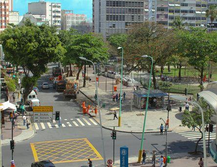 Rua Jangadeiros na altura da Praça General Osório em Ipanema, Rio de Janeiro