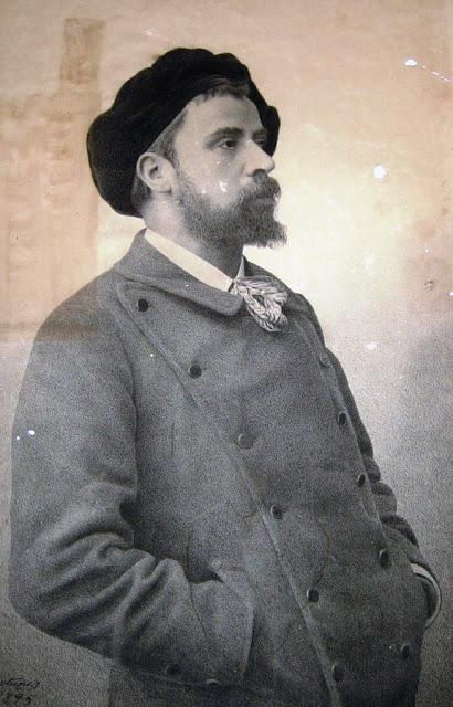 Antônio Parreiras com boina à francesa, 1895