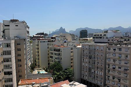 Vista aérea da Rua Canning em Ipanema, Rio de Janeiro