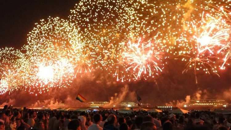 Fogos do Réveillon 2014 em Copacabana, Rio de Janeiro