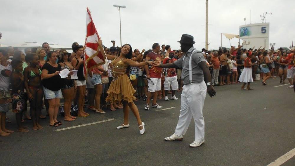 Ensaio da Escola de Samba Alegria da Zona sul em Copacabana