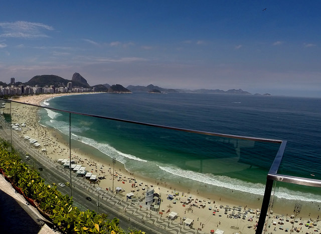 Praia de Copacabana vista do Hotel