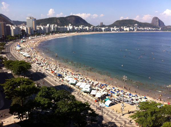 Praia de Copacabana vista do Othon