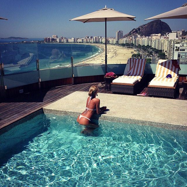 Praia de Copacabana vista do mar