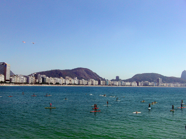 Stand up paddle em Copacabana
