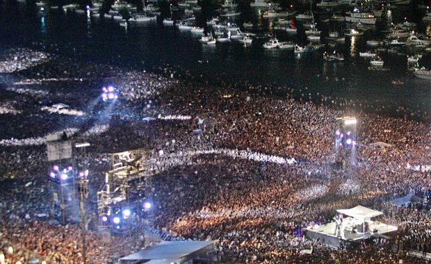 Rod Stewart ao vivo em Copacabana