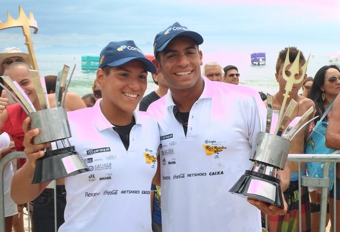 Ana Marcela e Alan do Carmo campeões da edição 2014 do Desafio Rei e Rainha do Mar