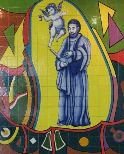 Mural em devoção a são mateus