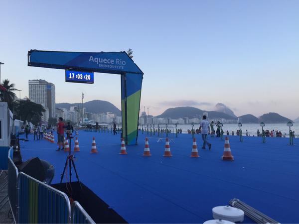 Evento-teste Aquece Rio em Copacabana