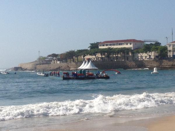 Evento-teste #Rio2016 da Maratona Aquática em Copacabana 22/08/2015