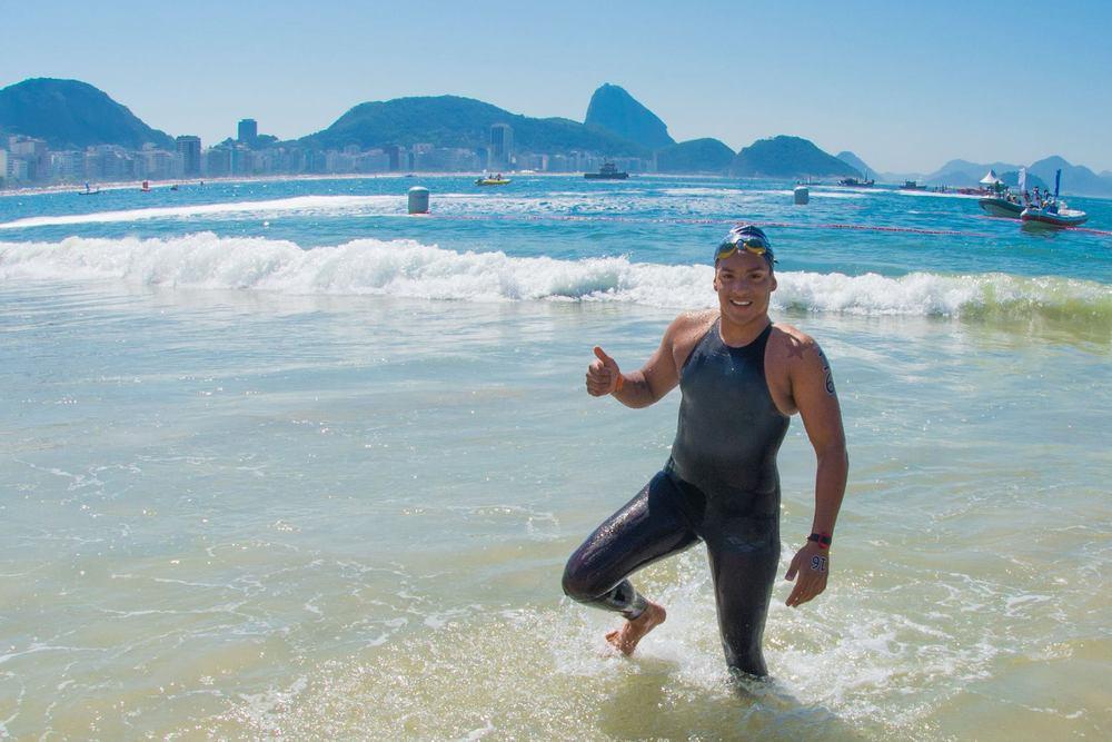 Ana Marcela ficou em segundo no Evento Internacional de Maratona Aquática, #AqueceRio, em 23/08/2015