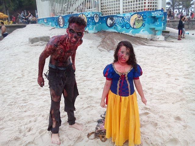 Branca de neve Zombie em Copacabana