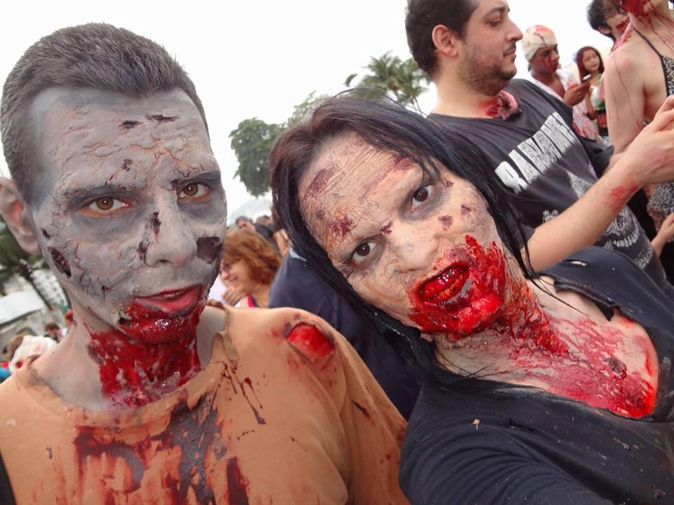 Selfie de Zumbies na Zombie Walk em Copacabana