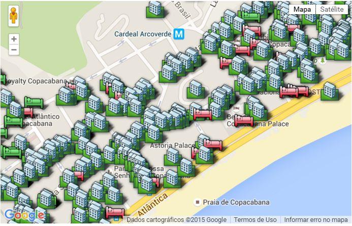 Reserve hotel, hostel ou apartamento por temporada pela localização