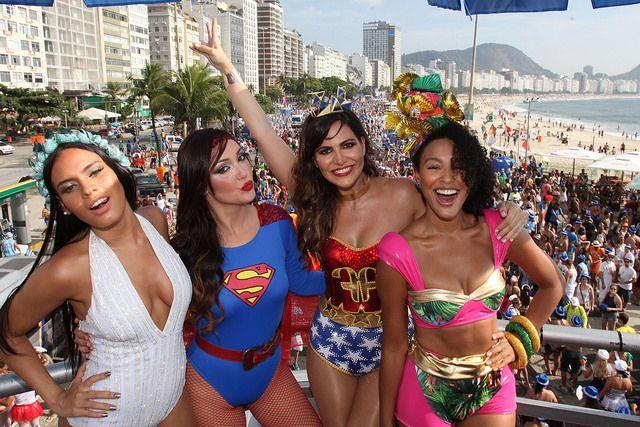 O bloco de funk, Favorita, na Praia de Copacabana