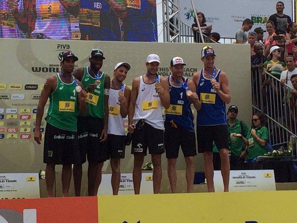 Volei de Praia - RIO GRAND SLAM 2016 - FIVB World Tour em Copacabana - Pódio masculino