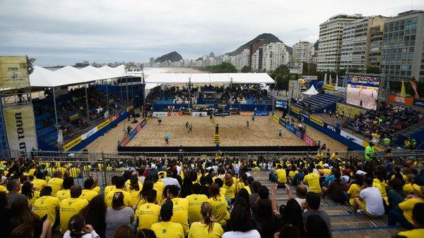 Arena do Volei de Praia montada em  Copacabana