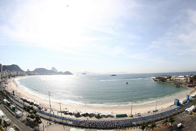 Prova de ciclismo de estrada, 06 de agosto, Praia de Copacabana. Foto por British Cycling